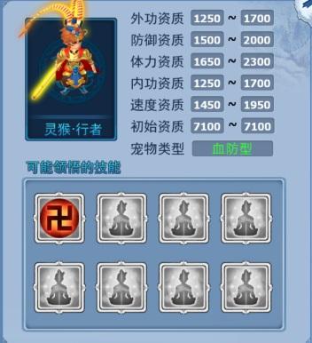 神雕侠侣宠物 神兽灵猴·灵猴·行者属性一览-血防猴.jpg