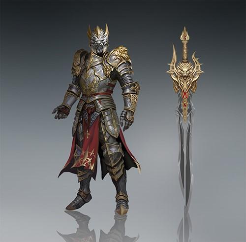 深度揭秘,有图有真相的《神魔大陆》手游武器展-图3:顶级战士的铠甲与武器.jpg
