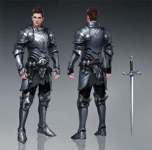 深度揭秘,有图有真相的《神魔大陆》手游武器展-图2:高级战士的铠甲与武器.jpg