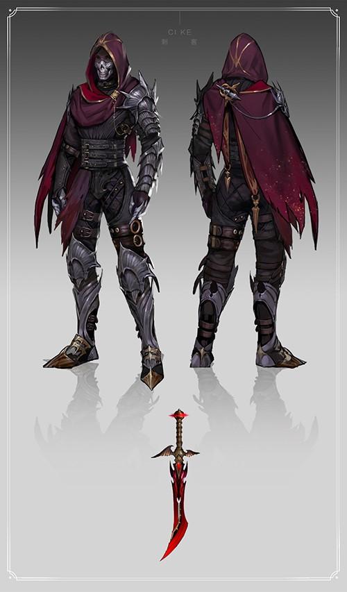 深度揭秘,有图有真相的《神魔大陆》手游武器展-图5:顶级刺客的铠甲与武器.jpg