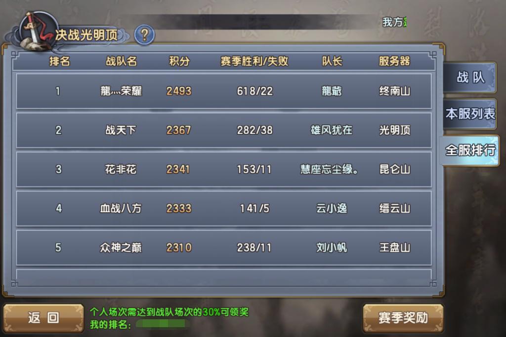 《倚天屠龙记》跨服战—4V4竞技场-决战光明顶配图.png